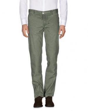 Повседневные брюки BARBA Napoli. Цвет: зеленый-милитари