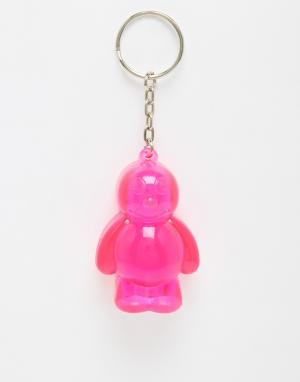 50FIFTY Брелок-фонарик для ключей в виде желейного человечка. Цвет: розовый