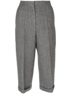 Укороченные брюки со складками Rochas. Цвет: чёрный