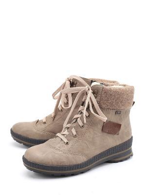 Ботинки Rieker. Цвет: бежевый