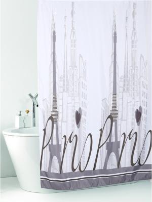 Штора д/ванн 180х200 Париж Dasch. Цвет: серый, белый