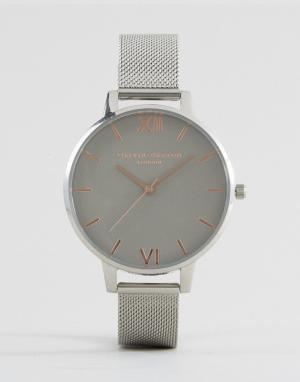 Olivia Burton Часы с сетчатым ремешком OB15BD80. Цвет: серебряный