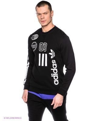 Джемпер LOGOS CREW Adidas. Цвет: черный