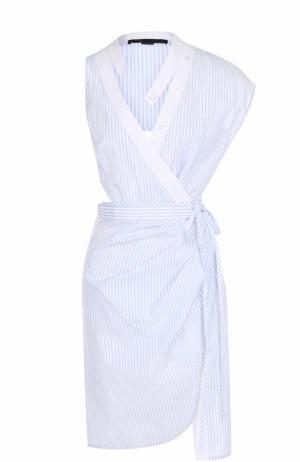 Платье асимметричного кроя с открытой спиной Alexander Wang. Цвет: разноцветный
