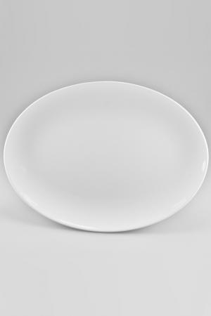 Блюдо овальное, 35 см Nikko. Цвет: белый