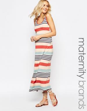 Ripe Трикотажное платье-майка для беременных Maternity Shelley. Цвет: красный