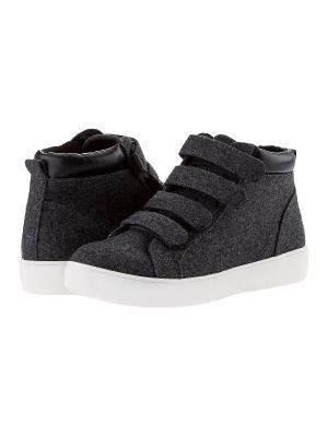 Ботинки Oodji. Цвет: темно-серый