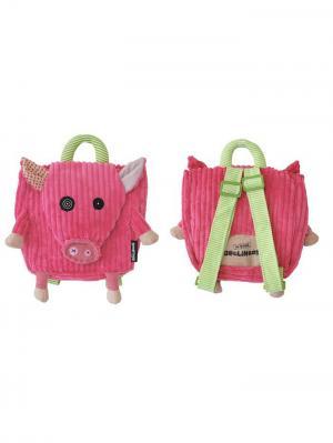 Игрушка Deglingos Свинка Jambonos - рюкзачок. Цвет: розовый