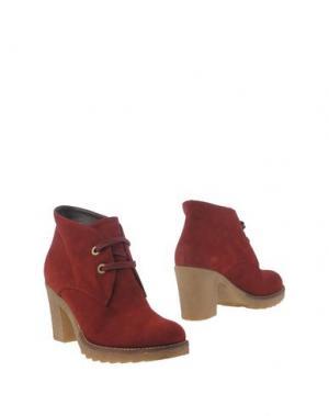 Полусапоги и высокие ботинки GIONATA. Цвет: кирпично-красный