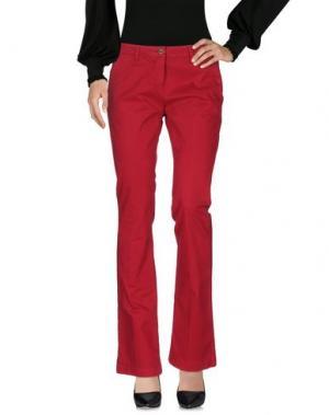 Повседневные брюки OSSO GOCCIA. Цвет: красно-коричневый