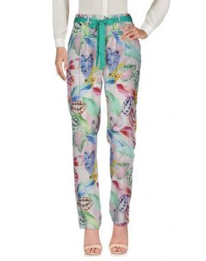 Повседневные брюки LAVAND.. Цвет: зеленый