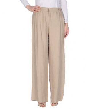 Повседневные брюки NIU'. Цвет: бежевый