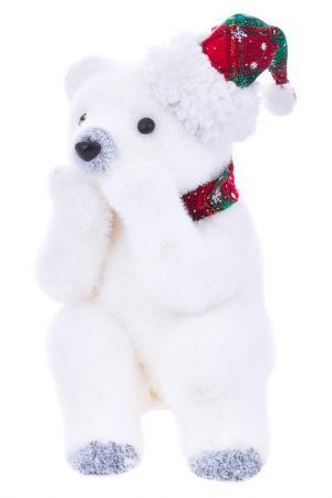 Скульптура Снежный мишка DUE ESSE CHRISTMAS. Цвет: белый