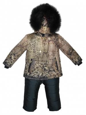 Комплект(куртка,полукомбинезон) BORELLI. Цвет: коричневый