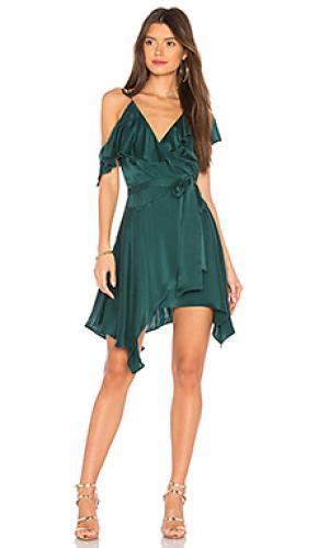 Платье с запахом mariana Karina Grimaldi. Цвет: зеленый