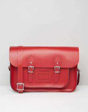 Leather Satchel Company Портфель 14. Цвет: красный
