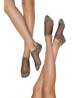 Люрексные носки 2 пары Жемчужина Нила Nothing but Love. Цвет: золотистый, белый, черный