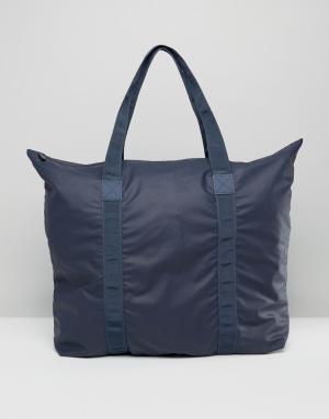 Rains Большая сумка-тоут. Цвет: темно-синий