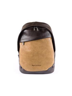 Рюкзак IGERMANN. Цвет: коричневый, желтый