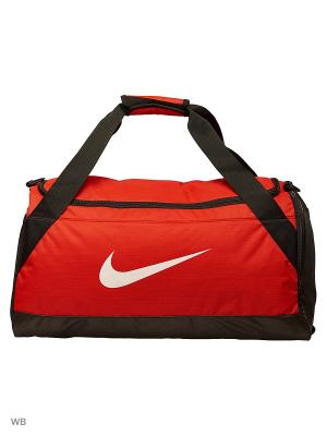 Сумки NK BRSLA M DUFF Nike. Цвет: красный