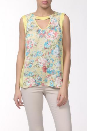 Блузка E.LEVY. Цвет: желтый