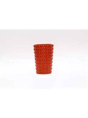 Керамический стакан для зубных щеток Сицилийский апельсин PROFFI. Цвет: оранжевый