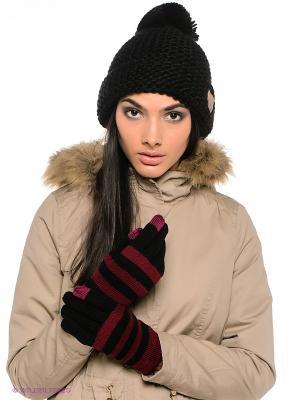 Перчатки Moodo. Цвет: черный, бордовый