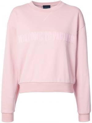 Толстовка с круглым вырезом Paradise Cynthia Rowley. Цвет: розовый и фиолетовый