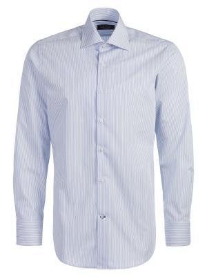 Рубашка Angelo Bonetti. Цвет: голубой, белый