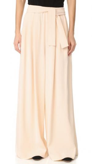 Длинные брюки в стиле карате Tome. Цвет: бледно-розовый