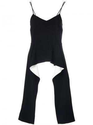 Топ с баской драпировкой Givenchy. Цвет: чёрный