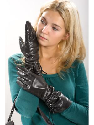 Перчатки Eleganse. Цвет: черный (осн.)