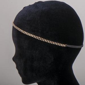Ободок-резинка для волос, арт. 08 694 Бусики-Колечки. Цвет: желтый