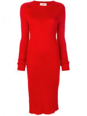 Платье с разрезами Ports 1961. Цвет: красный