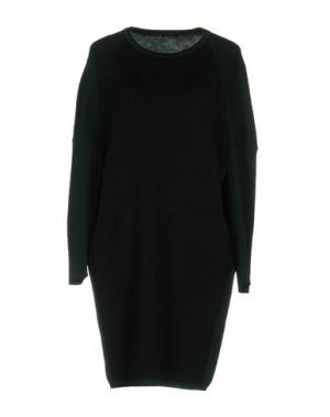 Короткое платье NEERA. Цвет: темно-зеленый
