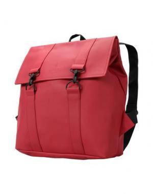 Рюкзаки и сумки на пояс RAINS. Цвет: красный