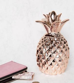 Sass & Belle Копилка в форме ананаса цвета розового золота эксклюзивно для B. Цвет: медный