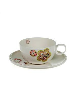 Н-р из 2-х чашек 300мл с блюдцами Сезон цветения Royal Porcelain. Цвет: молочный