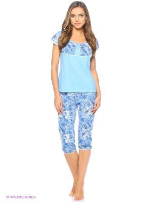 Пижама NAGOTEX. Цвет: голубой