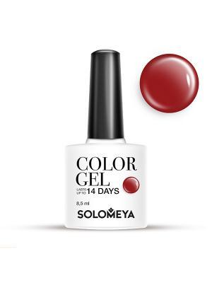 Гель-лак Color Gel Тон Bordeaux SCG138/Бордо SOLOMEYA. Цвет: темно-бордовый