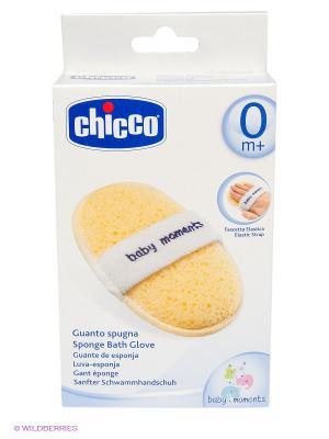 Губка-перчатка CHICCO. Цвет: желтый