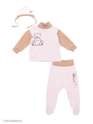 Комплект Лео. Цвет: розовый, белый, коричневый