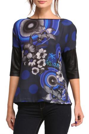 Блуза Desigual. Цвет: dark blue, blue