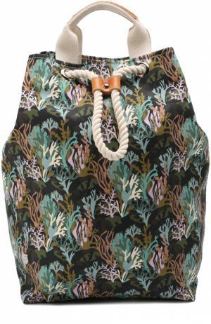 Рюкзак с принтом Bonfanti. Цвет: зеленый