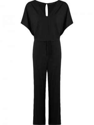 Deep v-neck jumpsuit Giuliana Romanno. Цвет: чёрный