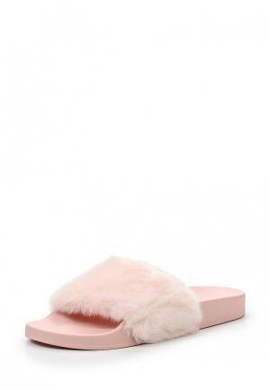 Шлепанцы Steve Madden. Цвет: розовый