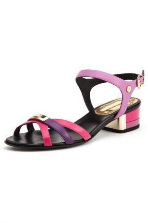 Босоножки на каблуках Loretta Pettinari. Цвет: розовый