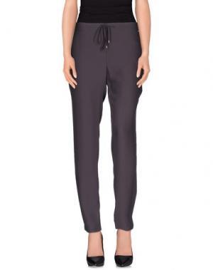 Повседневные брюки REBEL QUEEN. Цвет: стальной серый