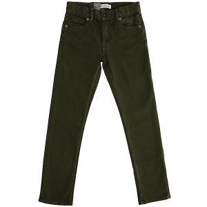 Джинсы узкие детские  Distorscolorsyt Pant Rifle Green Quiksilver. Цвет: зеленый