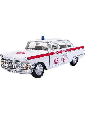 Машина ГАЗ-13 ЧАЙКА скорая помощь AUTOTIME. Цвет: белый